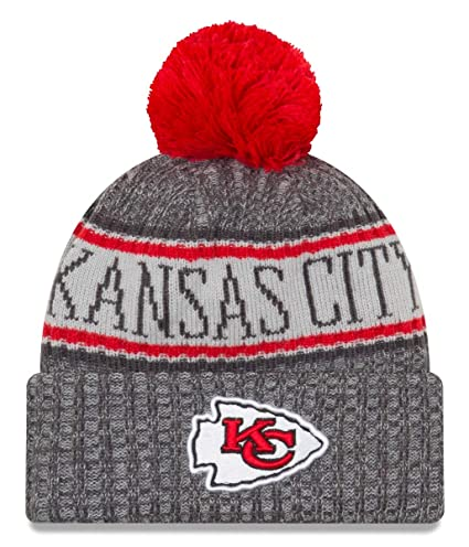 056b9f52125 Image Unavailable. Image not available for. Color  New Era Kansas City  Chiefs Gray Graphite Sport Knit NFL 2018 Beanie ...