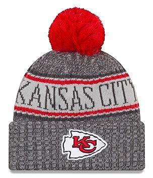 sale retailer a53d8 e2f39 New Era NFL Kansas City Chiefs 2018 Sideline Graphite Sport Knit