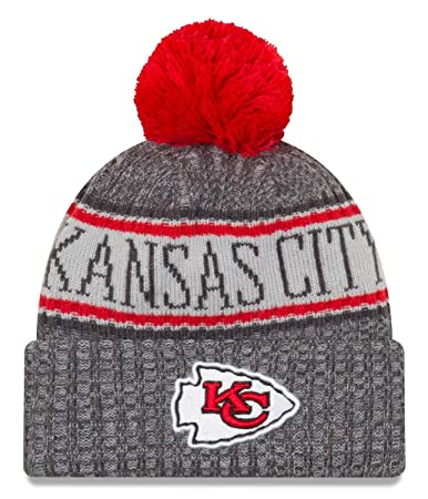 4c012389d27 Amazon.com   New Era Kansas City Chiefs Gray Graphite Sport Knit NFL ...