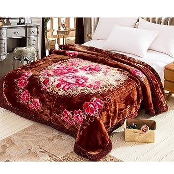 Couvertures de lit de Chambre à Coucher de Brune foncée ...