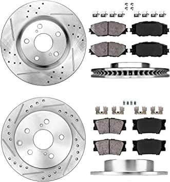 Rear 281 mm Brake Disc Rotors And Ceramic Pads For Lexus HS250H Toyota Rav4