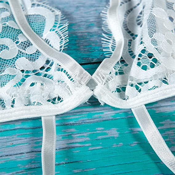 ... Lenceria Encaje Bodysuit Mujer Lenceria Picardias Transparente Ropa Interior Mujer Sexy Conjuntos Ropa Interior de Novia: Amazon.es: Ropa y accesorios