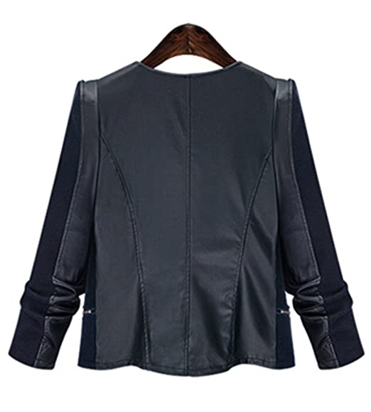 Amazon.com: lemosery Women s Fashion bloque de piel ...