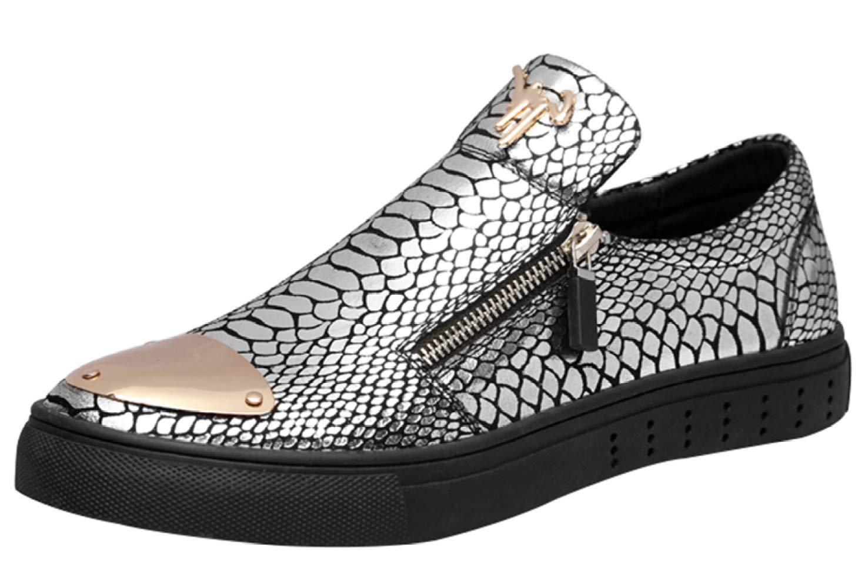 Mocasines Para Hombres Zapatos De Conducción Ocasionales Zapatos Perezosos De Moda 43EU|Silver