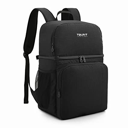 3a0845c49f57 TOURIT Insulated Cooler Backpack Double Deck Light Lunch Backpack with Cooler  Compartment for Men Women to
