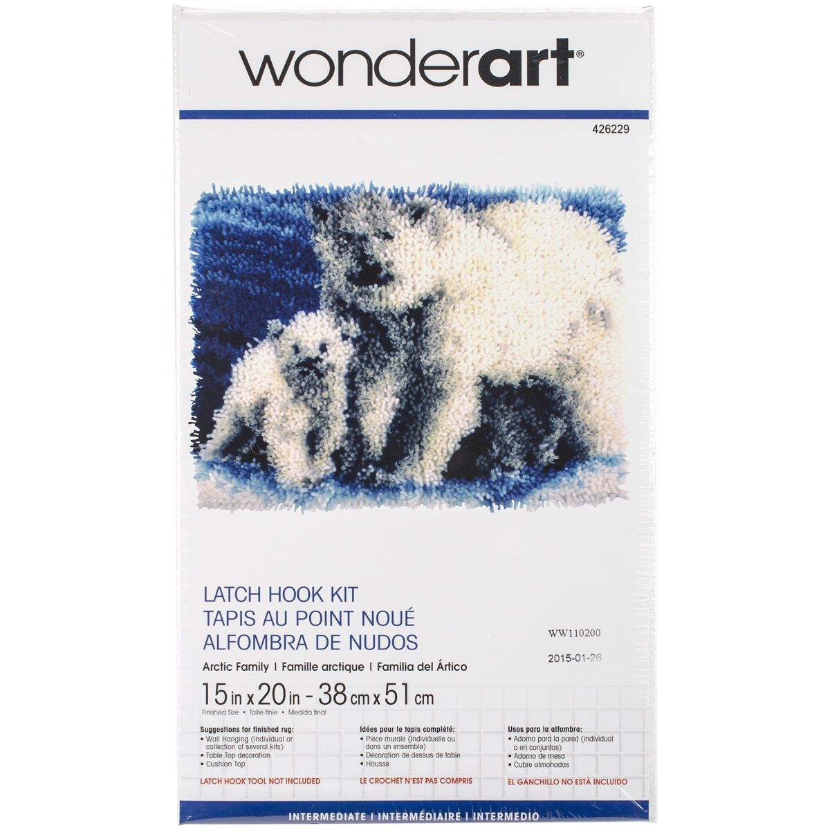 Wonderart Butterfly Moon Latch Hook Kit, 15 X 20 15 X 20 Spinrite 426147