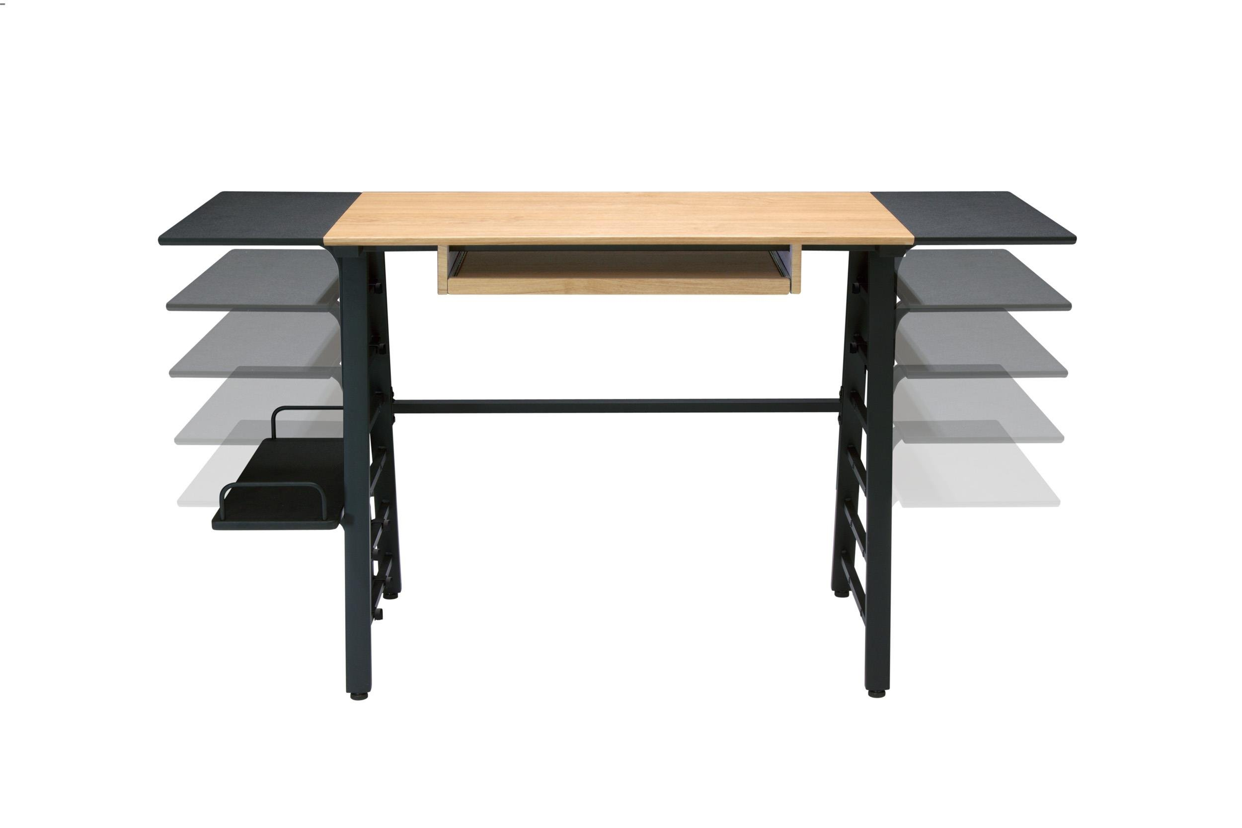 Calico Designs 51240 Convertible Art Drawing/Computer Desk Kids, Ashwood/Graphite