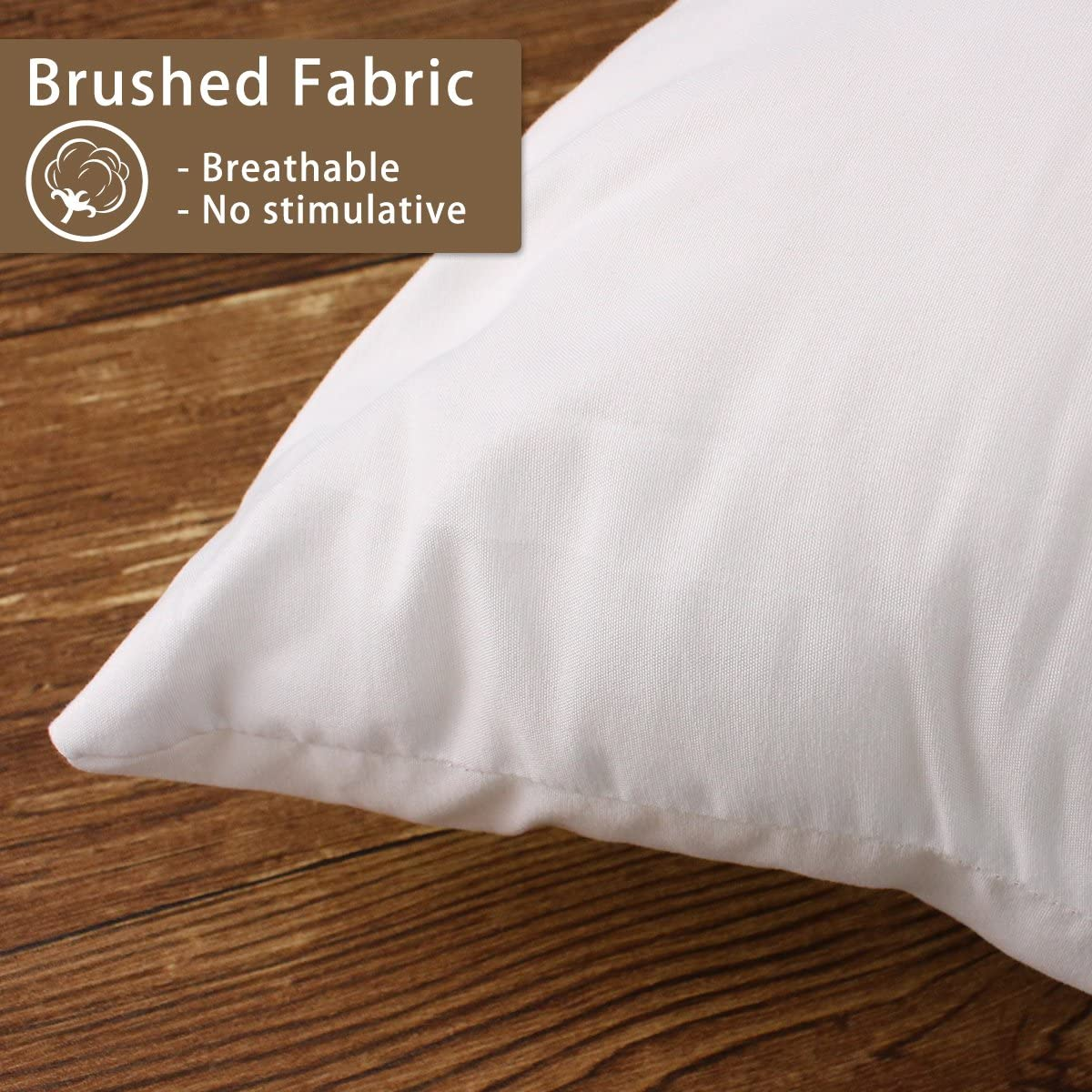 Hippih 18 X 18 Pillow Inserts Set Of 2 Hypoallergenic Decorative Square Pillow Form Insert With Zips White Amazon Ca Home Kitchen