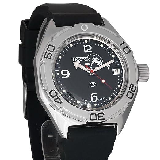 Vostok KOMANDIRSKIE K35 ruso reloj de pulsera correa de piel WR 100 M # 350745: Amazon.es: Relojes