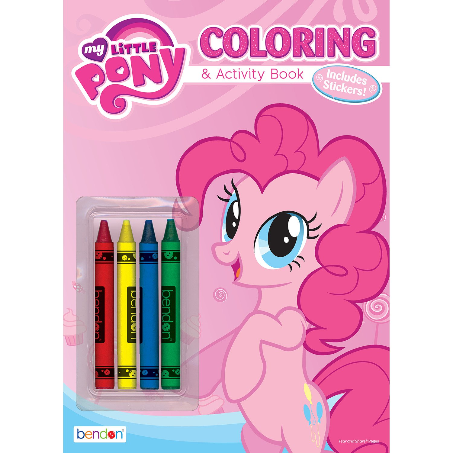Amazon.com: Bendon 47785 My Little Pony 48-Page Color and Trace Book ...