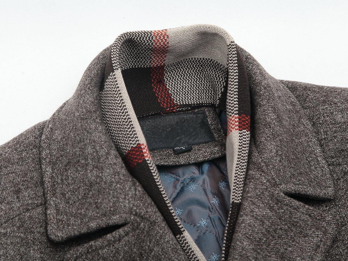 chaqueta c/álida para invierno Mirecoo Abrigo de lana para hombre