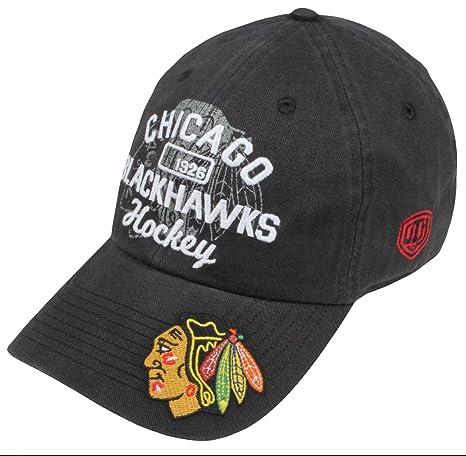 d24e9833139 Old Time Hockey NHL Chicago Blackhawks Men s Barnabus Slouch Adjustable Hat