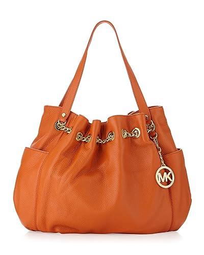 3e8af08a6a09 Amazon.com: Michael Kors Jet Set Chain Ring Tote-tangerine: Shoes