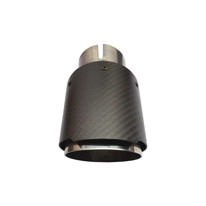 Endrohr matt Carbon Edelstahl 76mm Auspuffblende Anschluss 55-57 schr/äg