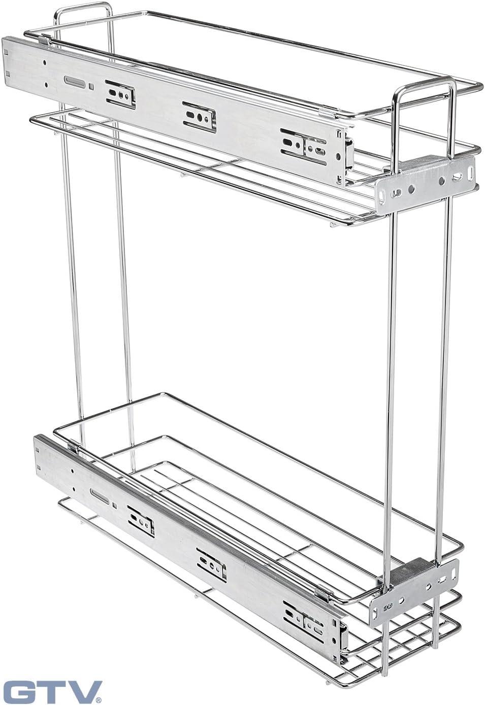 Single Wire Basket Storage Unit Chrome Finish Wall//Door Mountable 2 Sizes