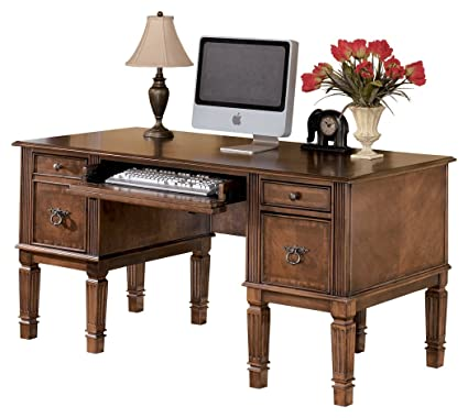 Ashley Furniture Signature Design   Hamlyn Large Home Office Desk    Drop Down Keyboard Tray