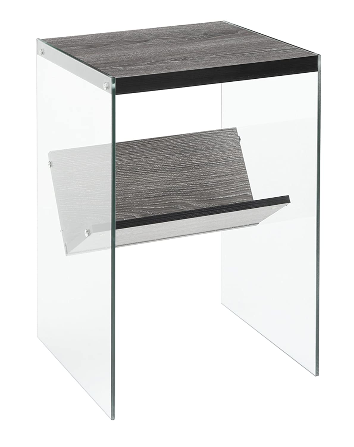 Convenience Concepts Soho End Table, Weathered Gray