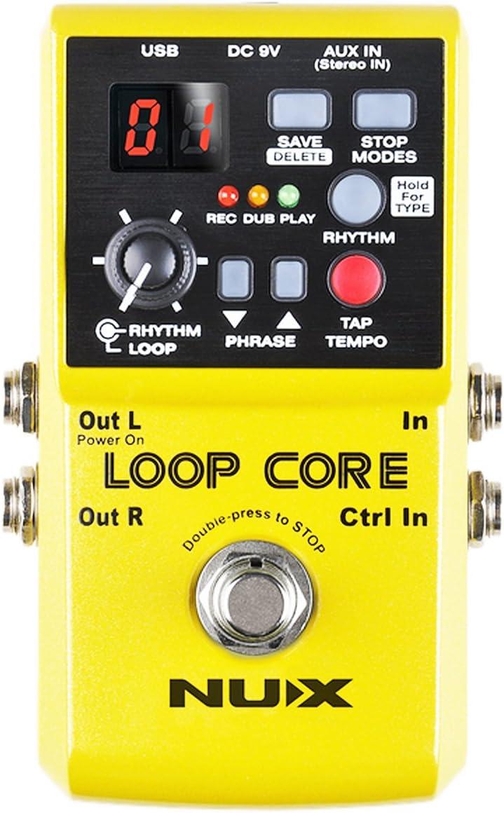 NUX Loop Core - Pedal de efectos para guitarra (incluye llavero con púas de keepdrum)