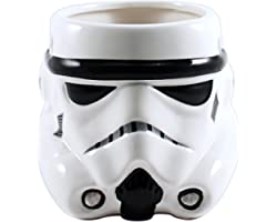 Silver Buffalo Star Wars Episodes 1-6 Storm Trooper Big Face 3D Sculpted Ceramic Mug, 1 Count (Pack of 1), White