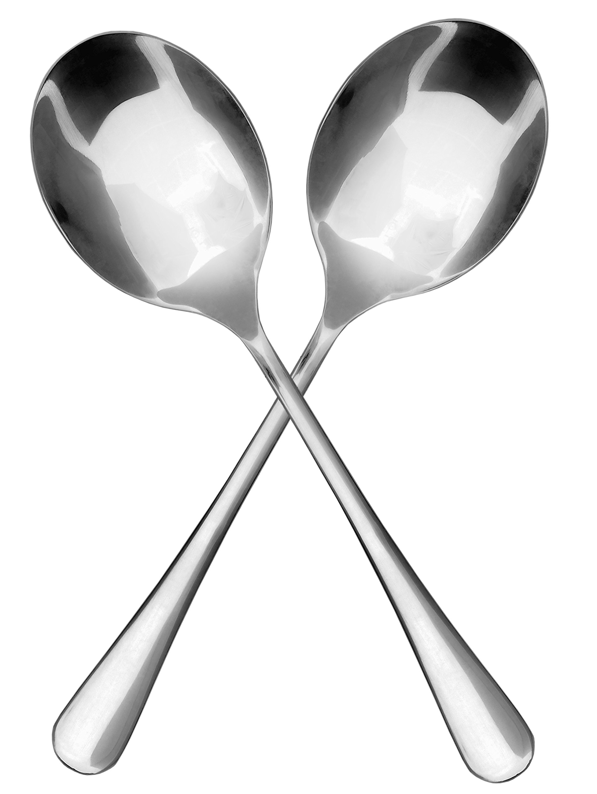 Stainless Steel X-Large Serving Spoons (2-Pack), Serving Utensil, Buffet & Banquet Style Serving Spoons-(2 Spoons) by Cornucopia Brands