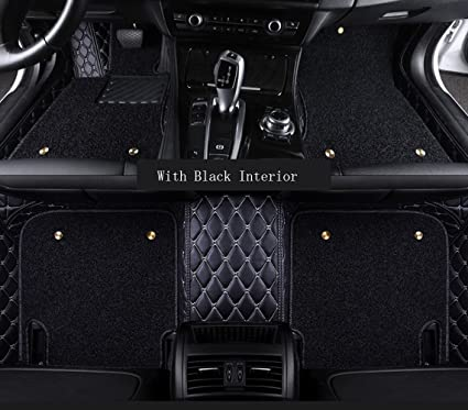muchkey car Floor Mats fit for Hyundai Kona 2019 Custom fit Luxury Leather All Weather Protection Floor Liners Full car Floor Mats