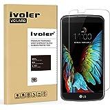 LG K10 Pellicola Protettiva, iVoler® Pellicola Protettiva in vetro temperato per LG K10- Vetro con Durezza 9H, Spessore di 0,2 mm,Bordi Arrotondati da 2,5D-Shockproof, Trasparenza ad alta definizione, Facile da installare- Garanzia a vita