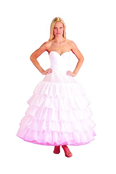 New 6 Bone Hoop Slip w/ 5 Ruffles Bridal Petticoat Wedding Gown Slip ...