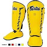 Fairtex Muay Thai Boxe MMA Protège-tibias SP7Twister détachable étape Protège-tibias en couleur: noir blanc rouge bleu jaune taille: M L XL