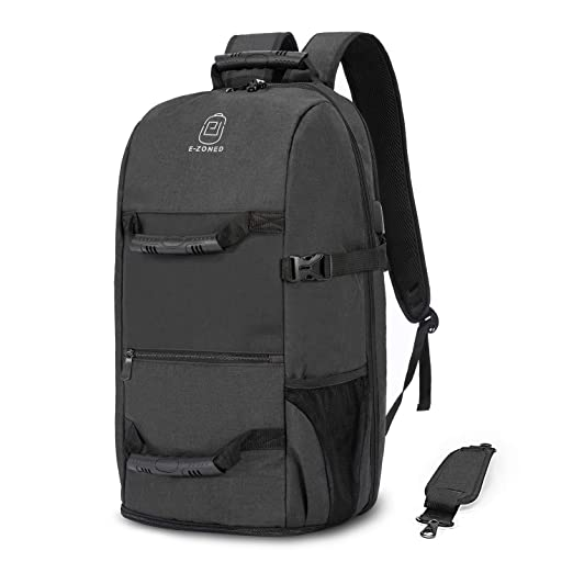 6a9f81a7567 Image Unavailable. Image not available for. Color  Travel Backpack with Shoes  Compartment USB Charging Port for Men