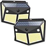 Solar Lights Outdoor 260LED, Wireless Double Solar Motion Sensor Lights with 300 Degrees Sensor Angle, IP65 Waterproof…