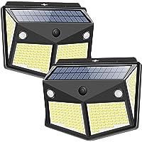 Solar Lights Outdoor 260LED, Wireless Double Solar Motion Sensor Lights with 300 Degrees Sensor Angle, IP65 Waterproof…