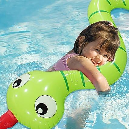 SUMME 170 cm Gigante niños inflables Serpiente Verde Piscina ...