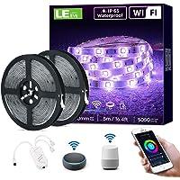 LE 10M 36W Tiras LED Exterior Impermeable IP65, Luces de Tira LED WiFi(Solo 2,4 GHz) 16 Millones RGB Regulable, Control Remoto y…