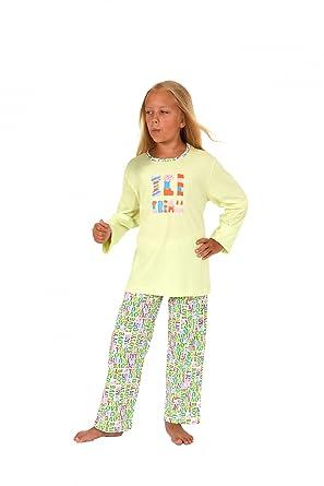 9dc9bdda7f NORMANN WÄSCHEFABRIK Cooler Mädchen Kinder Pyjama Langarm in Tollen Farben  60745 Schlafanzüge: Amazon.de: Bekleidung