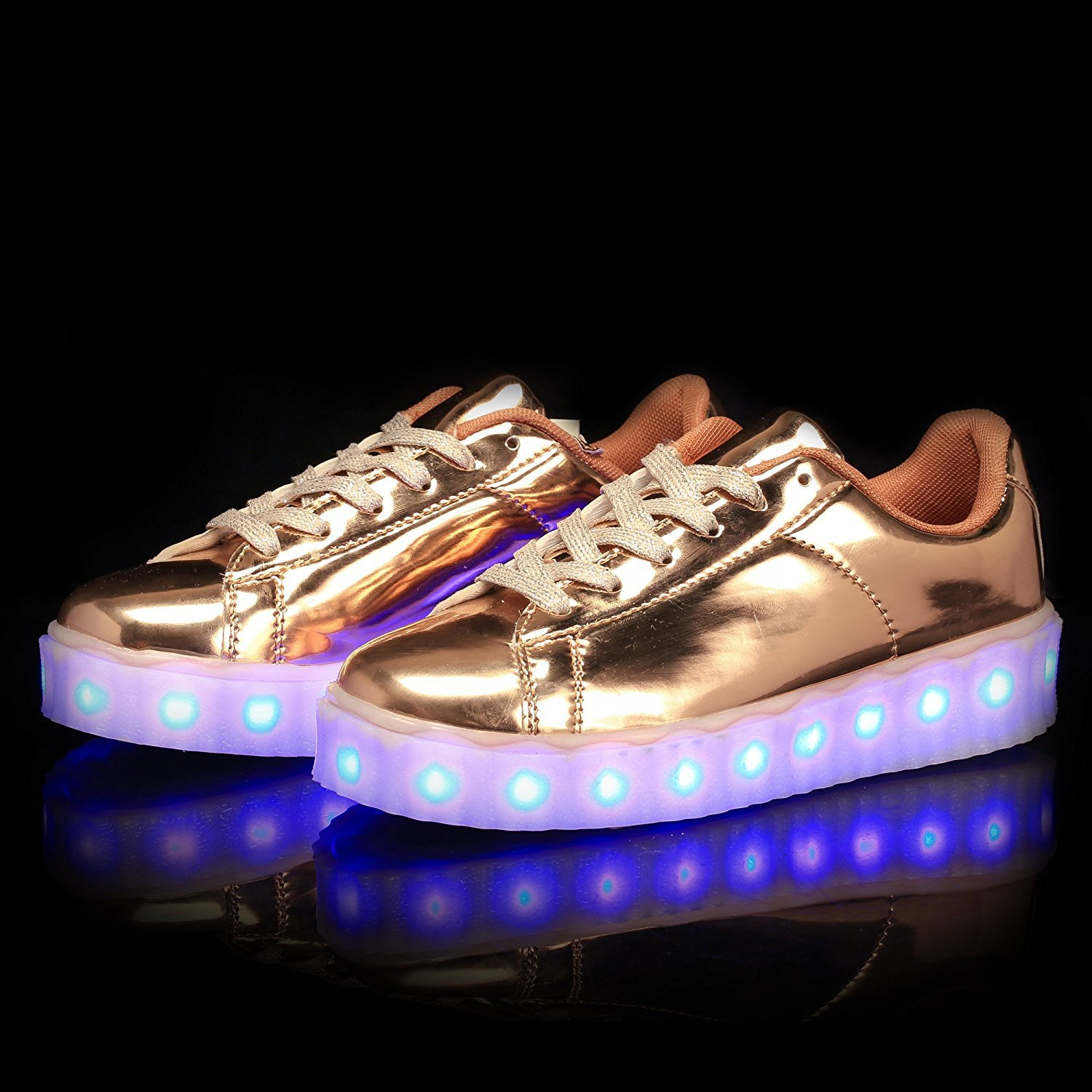 b7a94fe3e3098 A5uyzbayu Led Light Up Shoes Unisex USB 11 Colors Flashing Rechargeable  Sneakers