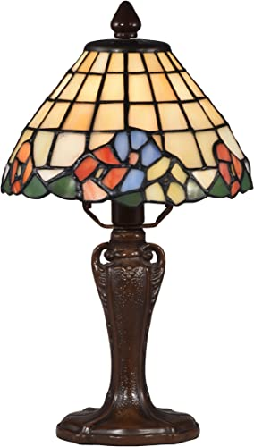 Springdale STA17007 Basking Floral Tiffany Accent Lamp, Antique Bronze