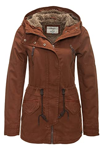 Only Onlleeona Canvas Parka Jacket Cc Otw, Chaqueta para Mujer