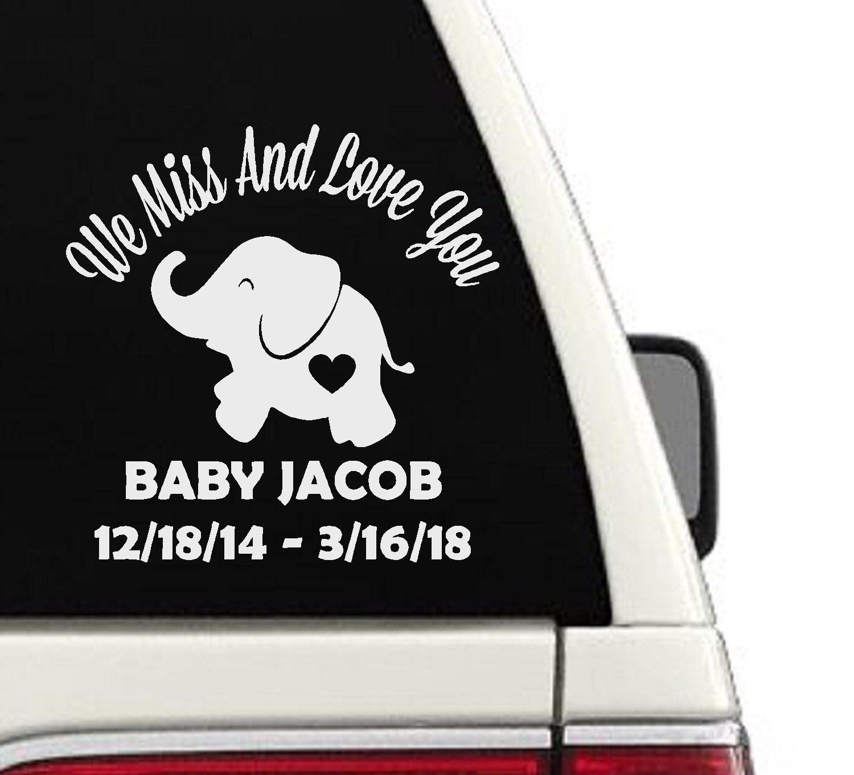 In Memory Of Custom Elephant Car Decal CD54