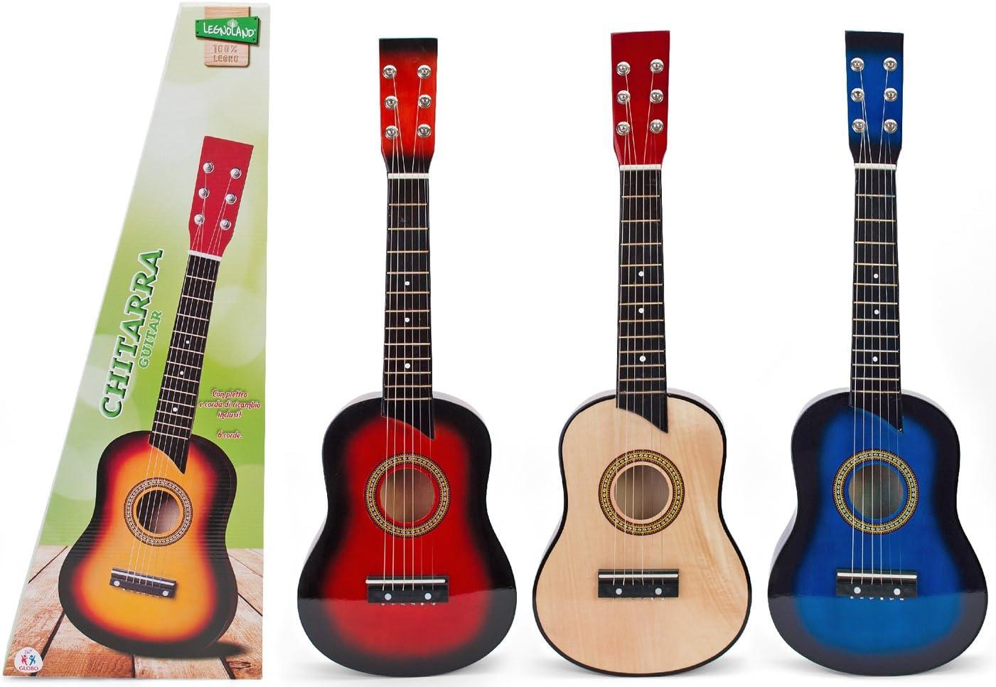 Globo Juguetes Globo – 36054 63 cm Legnoland Guitarra de Madera ...