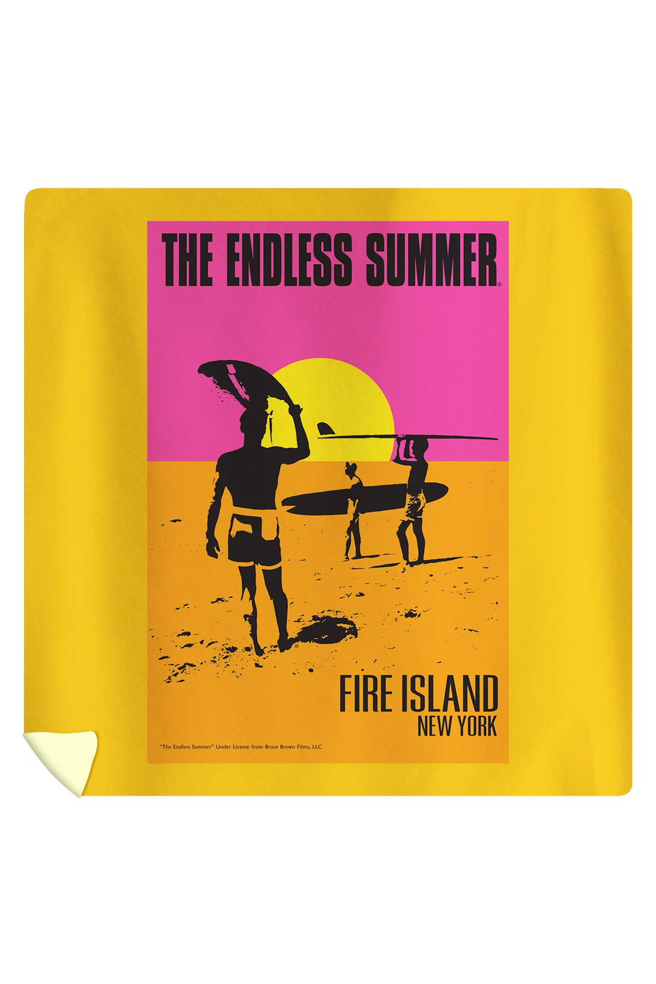 Fire Island, New York - The Endless Summer - Original Movie Poster (88x88 Queen Microfiber Duvet Cover)