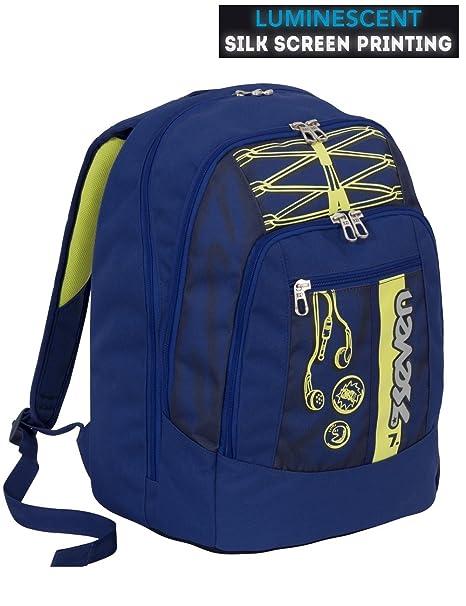 64c1ca7dc3 Zaino scuola advanced SEVEN - COLORFUL BOY - Blu Giallo - SERIGRAFIA  FOTOLUMINESCENTE - 30 LT