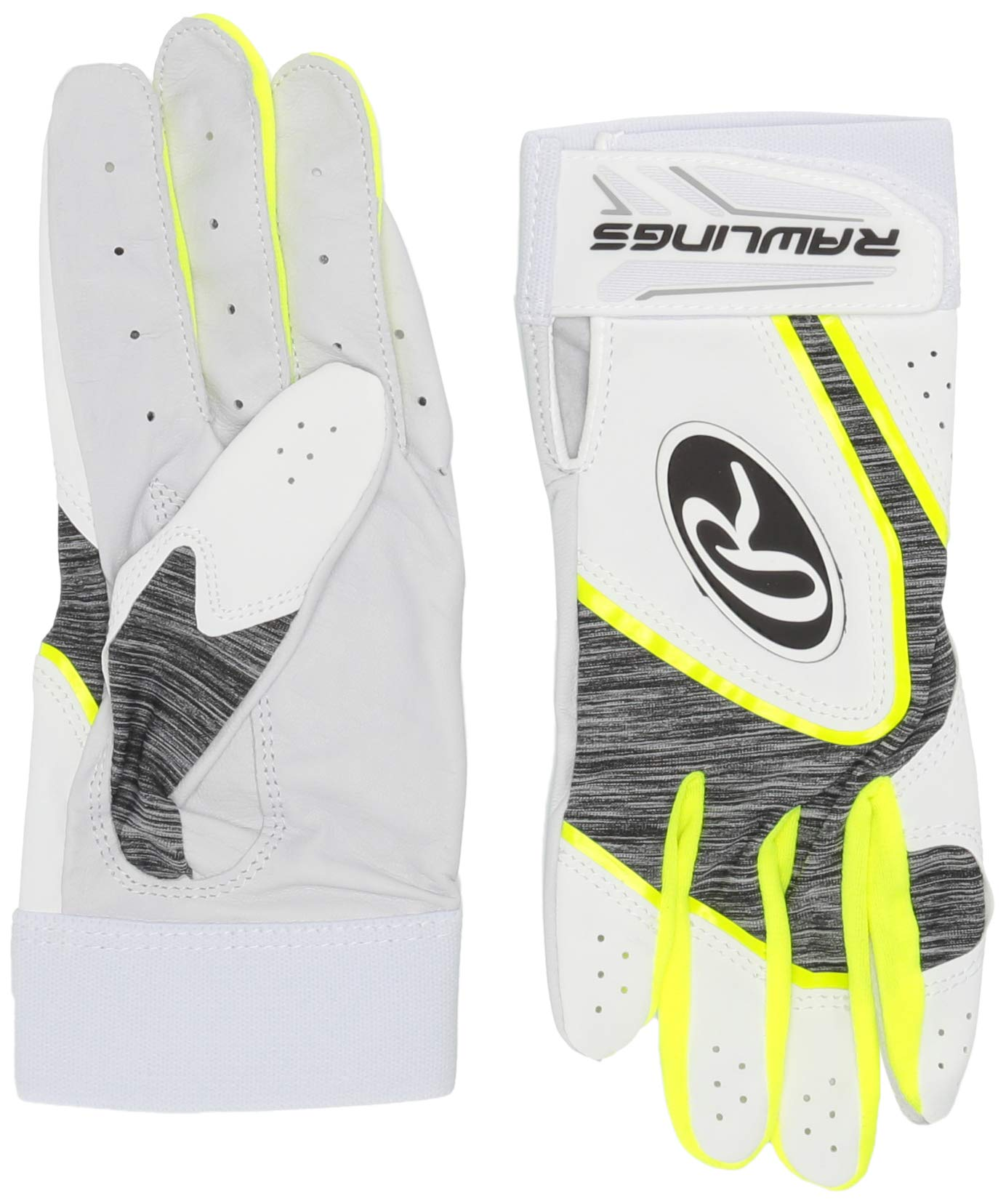 Rawlings 5150WBG-OY-90 Rawlngs 5150 Batting Gloves, Optic Yellow by Rawlings