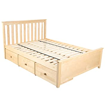 Amazoncom Plank Beam Solid Wood Platform Bed Storage Drawers