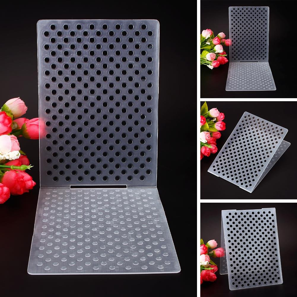 ZHUOTOP Simple Design Small Dots Pattern Plastic Embossing Folders for DIY Card Making Decoration Supplies