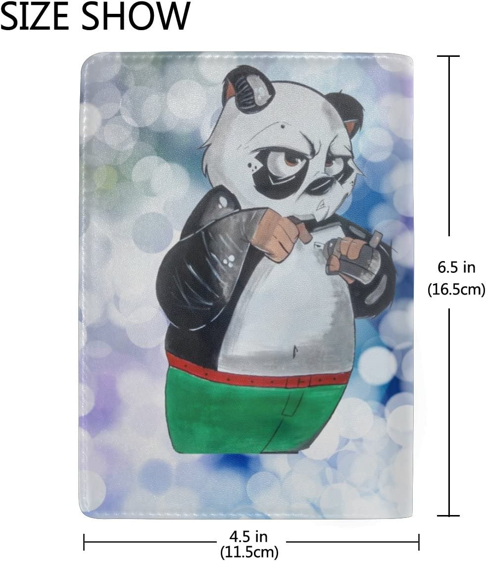 Snow Panda Real Leather Passport Holder Wallet Case Cover for Men Women