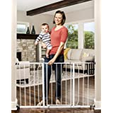 Regalo Easy Open 47-Inch Super Wide Walk Thru Baby Gate, Bonus Kit, Includes 4-Inch and 12-Inch Extension Kit, 4 Pack Pressur