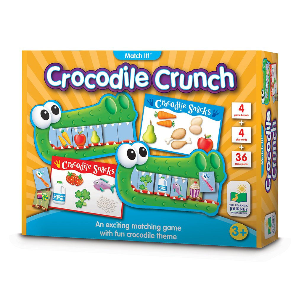 The Learning Journey - Match It Game Crocodile Crunch by The Learning Journey - (Image #1)