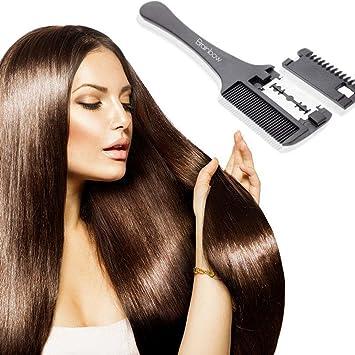 Amazon Com Hair Razor Comb Black Handle Hair Razor Cutting Thinning