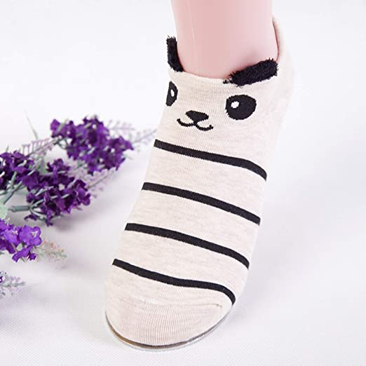 Cute Animal Cotton Socks Female Kawaii Cat With Dog Summer Short Socks,A