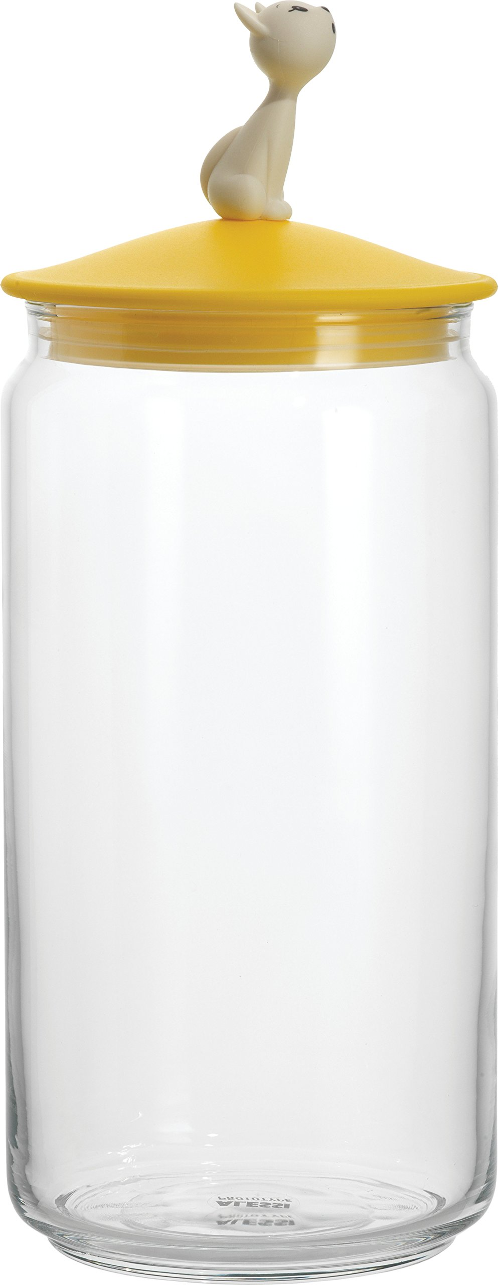 Alessi AMMI22 Y Mio' Jar Container, yellow, yellow